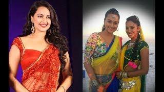 Sonakshi Sinha Navel In Transparent Saree