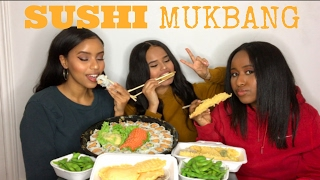 SUSHI MUKBANG | GIRL CHAT (EX'S CAN'T BE FRIENDS!)
