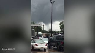 Tornado forms over Ensley