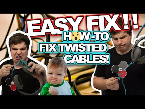 Xxx Mp4 HOW TO FIX TWISTED TANGLED CABLES THE EASY WAY Tangled Or Knotted Cables Headphones 3gp Sex