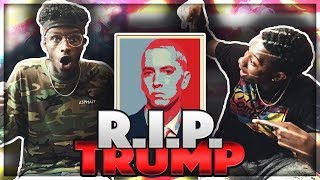 Eminem Rips Donald Trump In BET CYPHER REST IN PEACE DONALD TRUMP !! 🔥MUST WATCH REACTION🔥 -