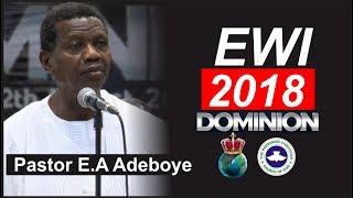 Pastor E.A Adeboye 2018 EWI RENDITION