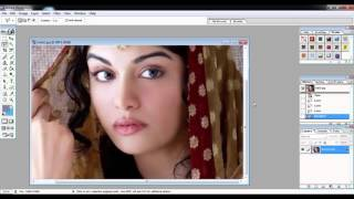 Adobe Photoshop7.0 Tutorials Video in Hindi Part 5 of 24 use of Magic wand tool & Lasso Tools
