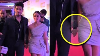 Alia Bhatt  And Sidharth Malhotra CAUGHT Walking Hand In Hand At HT Most Stylish Awards 2017