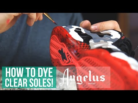 How to Make Sole Dye For Translucent Icey Soles Angelus Dye and Sole Bright