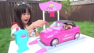 Barbie バービー お絵かき 洗車場 Car Wash Design Studio こうくんねみちゃん