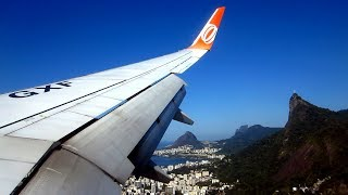 Amazing approach to Santos Dumont Airport and scenic flight - GOL Boeing 737-800