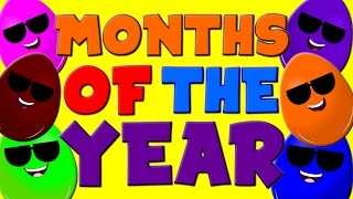 Months of the Year Song | 12 Months of the Year | Nursery Rhymes | Kids Songs | Childrens Video