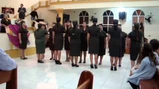 entrada das irmãs do circulo de oração da assembleia de Deus do campo de jacinto machado-sc