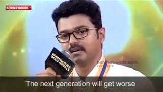 Actor Vijay's touching speech on farmers | Official HD Video | BGM 2017
