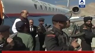 Home Minister Rajnath Singh reaches Leh
