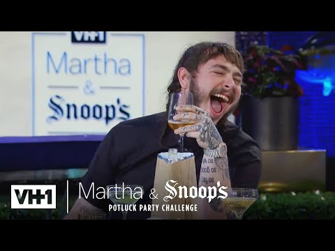 Martha Stewart Wonders Why Post Malone Came To Dinner Martha & Snoop s Potluck Dinner Party