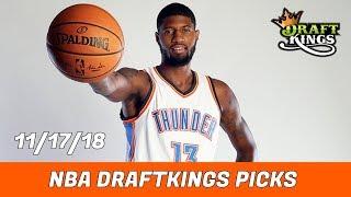 11/17/18 NBA DraftKings Picks - Money Six