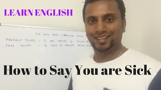 Spoken English in Sinhala with Usher Perera - Your Health in Past & Present Tense