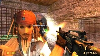Counter Strike Source Zombie Escape mod online gameplay on Pirates Port Royal map