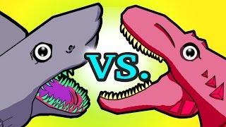 """""""My Cute Shark Attack Cartoon #13 (Finger Family Shark vs. Dino Super Hero! +BEST OF) kids cartoons!"""
