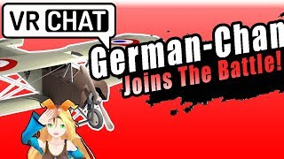 Chasing People As A German WW2 Plane In VRChat
