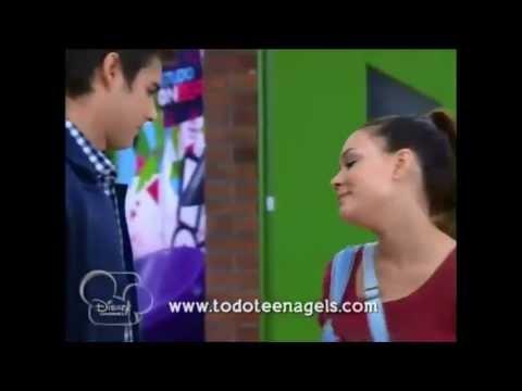 Violetta 2 Leon y Lara se besan y Vilu lo ve cap 34