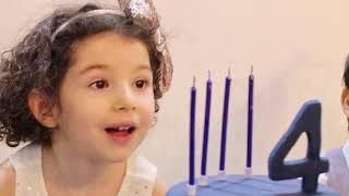 Hila's 4th BD-هیلای جانمون چهارساله شد