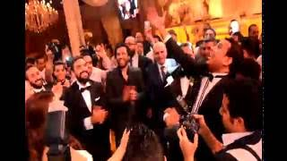 """شاهد حسن الرداد """" احمد السبكى """"ايتن عامر"""" محمود الليثى """" بوسى .. وصلة غناء في فرح نجل مجدي عبد الغني"""