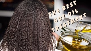 Hot Oil Treatment for Rapid Hair Growth and Scalp Stimulation using Olive Oil | Natural Hair