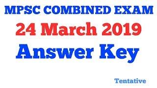 MPSC Combined Pre Exam 2019 Answer key - Grade B PSI STI ASO Pre exam