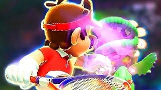 Mario vs Piranha from Super Mario Sunshine - Mario Tennis Aces Part 2 - Mini Games + Boss
