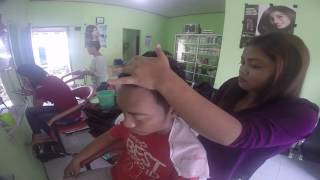 Indonesian Girl Powerful Head Massage Barbershop - Street Massage