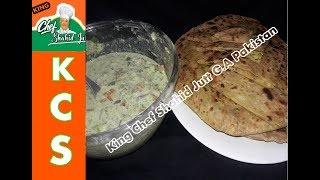 Aloo Paratha With Yougurt Salad ( King Chef Shahid Jutt G.A Pakistan )