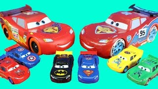 Huge Disney Pixar Cars Lightning McQueen Collection Batman Superman Spiderman Hulk TMNT Car McQueen