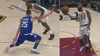 LeBron James 39 Points! Got Austin Rivers Leaning! Clippers vs Cavs 2017-18 Season