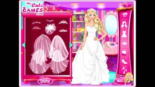 Wedding Barbie Dress Up Games