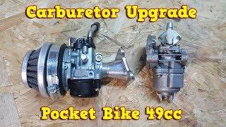 Carburetor Upgrade to 15mm in 49cc Pocket Bike Engine - Instructions