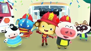 BABY PANDA SAVE THE DAY - Fun To Discover Firefighter - Educational Kids Games