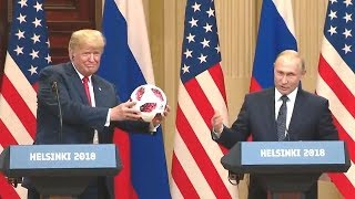 President Putin And President Trump Hold Joint Press Conference In Helsinki