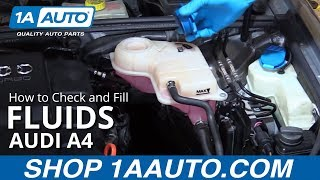 How to Check and Fill Fluids 2004-08 Audi A4