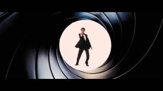Pierce Brosnan in Skyfall Gunbarrel