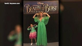 Beyoncé hijst dochter in jurk 26K