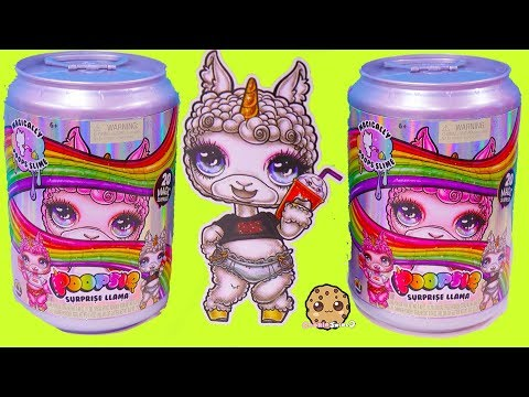 NEW Giant Soda Can Poopsie Surprise Llama Mix Make Easy Slime Video