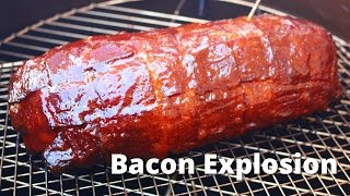 Bacon Explosion stuffed with Jalapeños & Cheese | Football Explosion Recipe