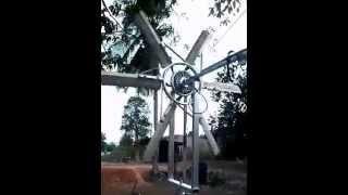 กังหันลมผลิตไฟฟ้าจากล้อจักรยานไฟฟ้า Hub Motor 48V 350W