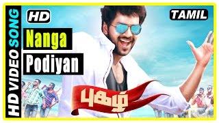 Pugazh Tamil Movie | Scenes | Title Credits | Jai attacked | Naanga Podiyan song | Surabhi warns Jai