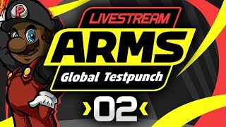 ARMS Gameplay - Global Testpunch Livestream! [#02] [Helix Gameplay] [MOTION CONTROLS]