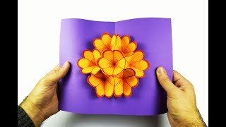 How to make a paper flower Pop-Up card?