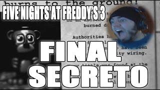 FIVE NIGHTS AT FREDDY'S 3 - NOCHE 6 NIGHTMARE - FINAL SECRETO | GUIA | ZellenDust