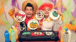 Dibujos Que Se Comen de Halloween (Pennywise, Emojis y más) - Ami Rodriguez Ft. Sofia Castro