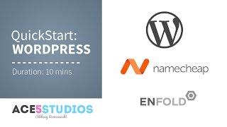 Wordpress - Namecheap - Enfold in 10 minutes.