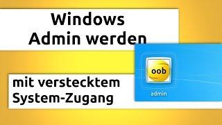 Windows Admin werden (in 2 Minuten) ohne Passwort