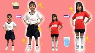 身長が伸びる!?? アスミール 小倉優子さん&AMEMIYAさんとカンパイして歌を歌いました♫ こうくんねみちゃん
