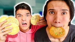 Food Frisbee Challenge!! ft ALEX WASSABI